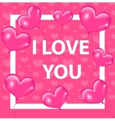 Happy valentines day card template invitation vector
