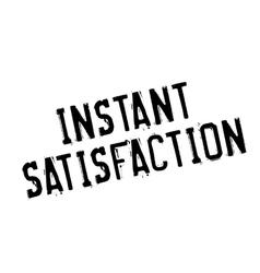Instant satisfaction rubber stamp vector