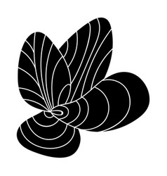 mussels icon in black style isolated on white vector image