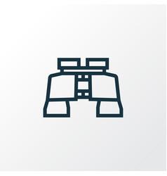Binoculars outline symbol premium quality vector