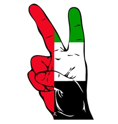 Peace sign of the uae flag vector