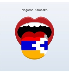 Nagorno-karabakh language abstract human tongue vector