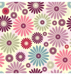 Floral pastel pattern vector