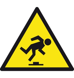 Danger tripping hazard safety sign vector