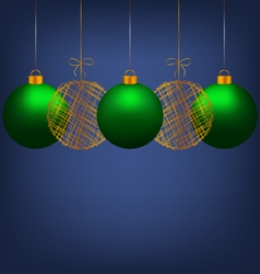Christmas balls on blue vector