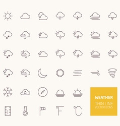 Weather outline icons for web and mobile apps vector