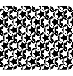 Design seamless monochrome star geometric pattern vector image