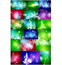 Set of shiny color christmas backgrounds with vector