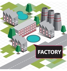 Map isometric factory vector
