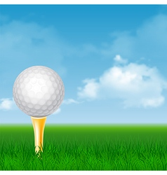 Golf card vector