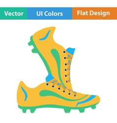 Flat design icon of football boots vector
