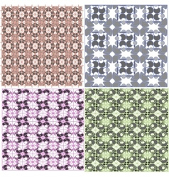 Abstract seamless pattern background set vector image