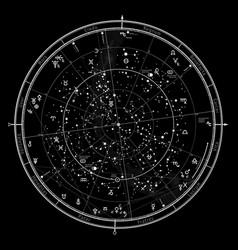 astrological horoscope on january 1 2018 vector image