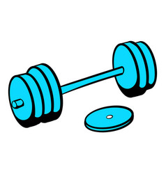 Barbell icon icon cartoon vector