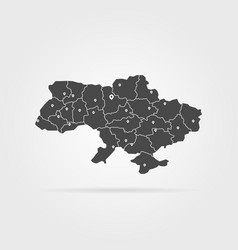 black simple ukraine map pin with shadow vector image vector image