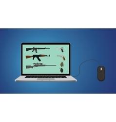 Buy online gun website with riffle vector
