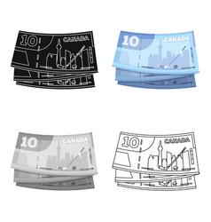 Canadian dollar canada single icon in cartoon vector