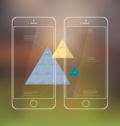 Creative template of mobile phones for vector image vector image