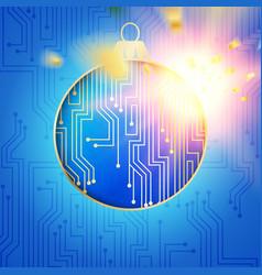 Digital christmas design vector