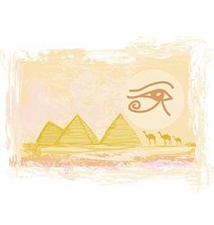 Egypt symbols and Pyramids - Traditional Horus Eye vector image vector image