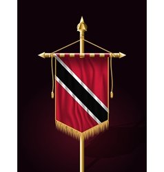 Flag trinidad and tobago festive vertical banner vector