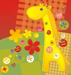 Girafe patch vector
