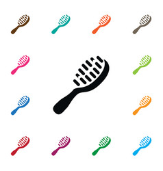 isolated hackle icon styling brush element vector image