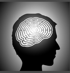 Labyrinth in a head vector