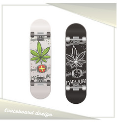 medical marijuana skateboard seven vector image vector image