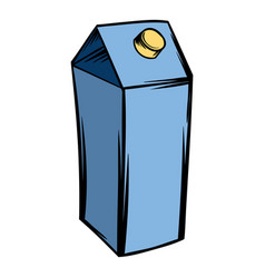 Milk or juice carton box icon cartoon vector