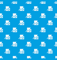 music box pattern seamless blue vector image vector image
