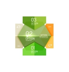 Paper business option button infographic templates vector image vector image