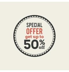 sales label vector image vector image