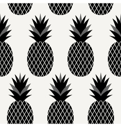 Seamless pineapples pattern vector
