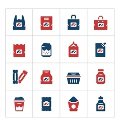 Set color icons of package vector