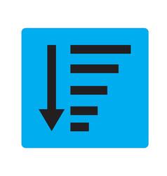 Sort descending icon on white background sort vector