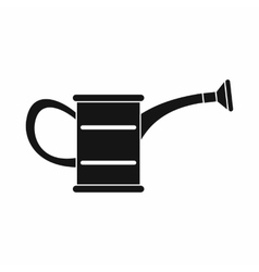 The watering can icon black simple style vector