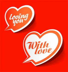 with love enamoured bubbles vector image vector image