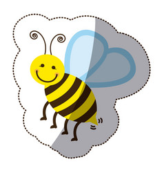 color bee icon stock vector image