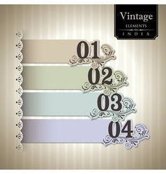 Vintage style bar graph vector