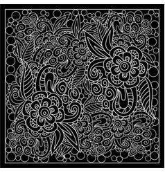 Black and white bandana print vector