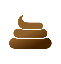 shit icon brown turd sign poop symbol isolated vector image