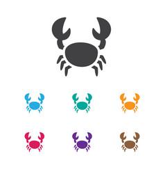 Of animal symbol on crab icon vector