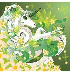 Spring unicorn vector image
