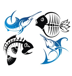 Fish icons vector image