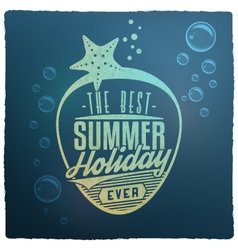 Summer holidays related vintage label vector