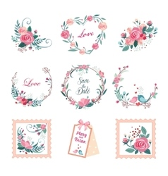 Floral vintage for cards and decor vector