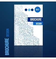 brochure design template with geometric vector image