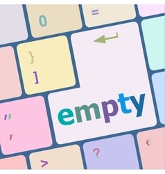 Empty button on computer pc keyboard key vector