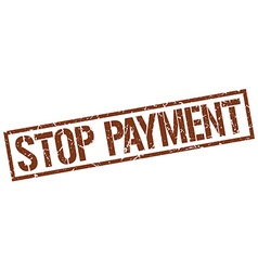 Stop payment stamp vector